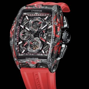 CVSTOS CHALLENGE CHRONO II BLACK AND RED FORGED CARBON